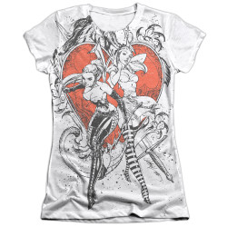 Image Closeup for Zenescope Girls Sublimated T-Shirt - Black and White Heart