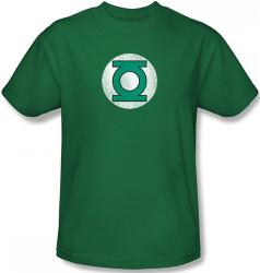 Image Closeup for Green Lantern Distressed Logo T-Shirt