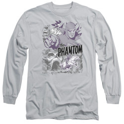 Image for The Phantom Long Sleeve Shirt - Ghostly Collage