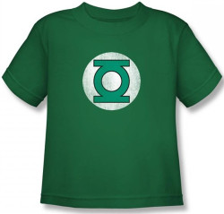 Image for Green Lantern Distressed Logo Kid's T-Shirt