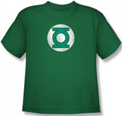 Image for Green Lantern Distressed Logo Youth T-Shirt