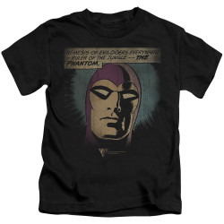 Image for The Phantom Kids T-Shirt - Evildoers Beware