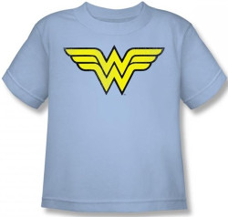 Image for Wonder Woman Distressed Logo Kid's T-Shirt