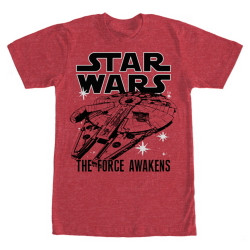 Image for Star Wars Episode 7 Millenium Falcon Heather T-Shirt