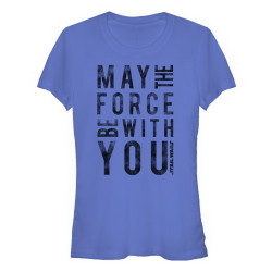 Star Wars Episode 7 Juniors T-Shirt - May the Force be With You