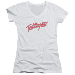 Image for Ted Nugent Girls V Neck - Clean Logo