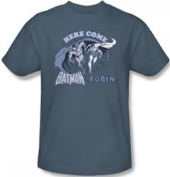 Image Closeup for Batman T-Shirt - Here Come Batman and Robin