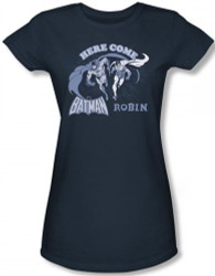 Image for Batman Girls T-Shirt - Here Come Batman Girls and Robin