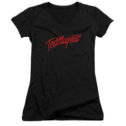 Image for Ted Nugent Girls V Neck - Distress Logo