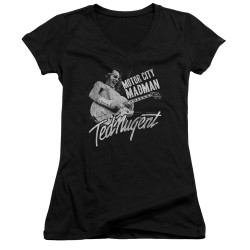Image for Ted Nugent Girls V Neck - Madman
