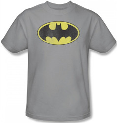 Image Closeup for Batman T-Shirt - Retro Bat Logo Distressed