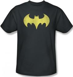 Image Closeup for Batgirl Logo Distressed T-Shirt