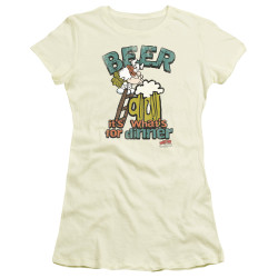 Image for Hagar The Horrible Girls T-Shirt - Beer, Dinner