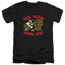 Image for Hagar The Horrible V Neck T-Shirt - Save Water Drink Beer