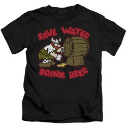 Image for Hagar The Horrible Kids T-Shirt - Save Water Drink Beer
