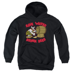 Image for Hagar The Horrible Youth Hoodie - Save Water Drink Beer