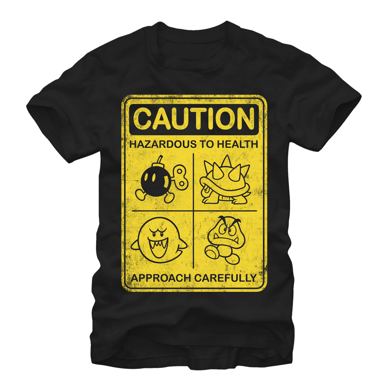 ed994277d51 Mario Bros Caution T-Shirt - NerdKungFu