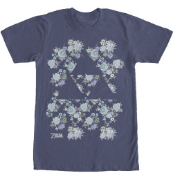 Image for Legend of Zelda Floral Triforce T-Shirt