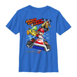 Image for Mario Bros Youth T-Shirt - Victory Lane