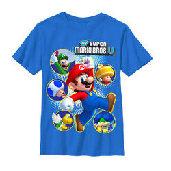 Image for Mario Bros Youth T-Shirt - Super Cast