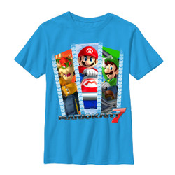 Image for Mario Bros Youth T-Shirt - Mariokart Three Rollers