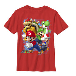 Image for Mario Bros Youth T-Shirt - Blast Out