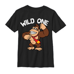 Image for Donkey Kong Youth T-Shirt - Wild One