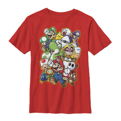 Image for Mario Bros Youth T-Shirt - Showdown