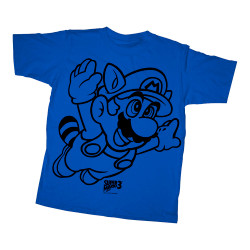 Image for Mario Bros Youth T-Shirt - Line Flyer