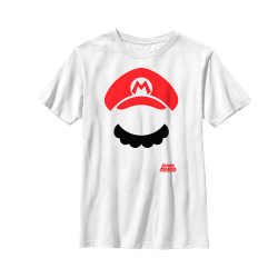 Image for Mario Bros Youth T-Shirt - Mario Facetime