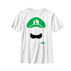Image for Mario Bros Youth T-Shirt - Luigi Facetime