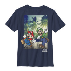 Image for Mario Bros Youth T-Shirt - Running Mario