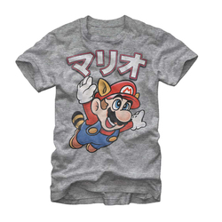 Image for Mario Bros Mario Away Heather T-Shirt