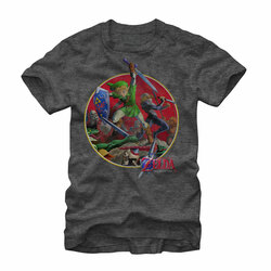 Image for Legend of Zelda Sword Fight Heather T-Shirt