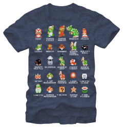 Image for Nintendo Pixel Cast Heather T-Shirt