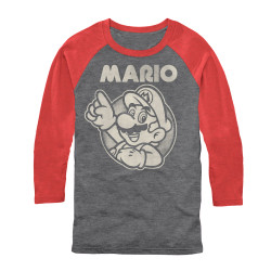 Image for Mario Bros 3/4 Sleeve T-Shirt - Super
