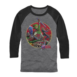 Legend of Zelda 3/4 Sleeve T-Shirt - Sword Fight