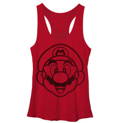 Image for Mario Bros Womens Tank Top - Face It