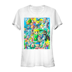 Image for Legend of Zelda Juniors T-Shirt - Link Stack