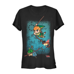 Image for Legend of Zelda Juniors T-Shirt - Map Swing