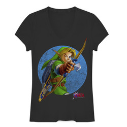 Image for Legend of Zelda Girls V Neck - Retro Link