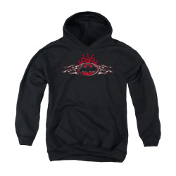 Image for Batman Youth Hoodie - Steel Flames Logo