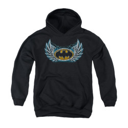 Image for Batman Youth Hoodie - Steel Wings Logo