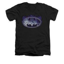 Image for Batman V Neck T-Shirt - Cracked Shield