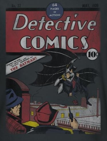 Image for Batman T-Shirt - Detective #27 Distressed