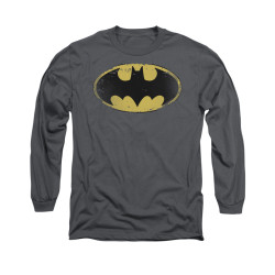 Image for Batman Long Sleeve Shirt - Distressed Shield