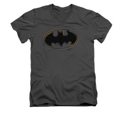 Image for Batman V Neck T-Shirt - Spray Paint Logo