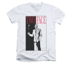 Image for Batman V Neck T-Shirt - Two Face