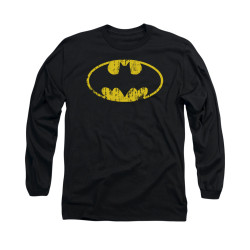 Image for Batman Long Sleeve Shirt - Classic Logo Distressed