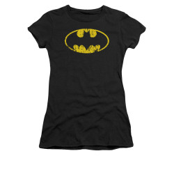 Image for Batman Girls T-Shirt - Classic Logo Distressed